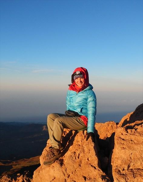На вершине вулкана Тэйде, 3718м