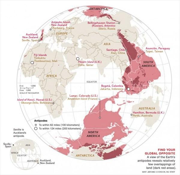 Карта антиподов