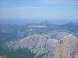 Вид на горы Supramonte с P. sos Nidos (1346 м)