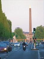 Вид на Площадь Согласия. Апрель, 2011-город Париж