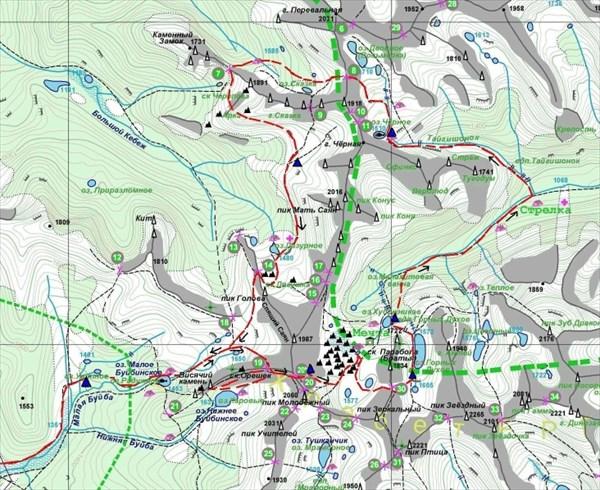 на фото: Схема маршрута