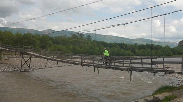 Подвесной мост в Преградной