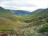 Вид с подъема на долину