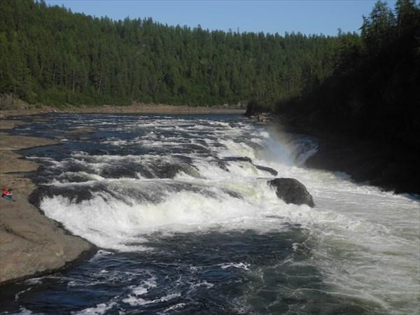 Малый Курейский водопад
