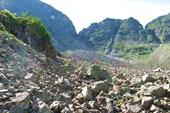 Нижная часть перевального курума