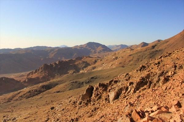 Синайские горы, спуск с горы Моисея