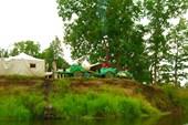 20 июля 2008. Река Сережа. Христианский палаточный лагерь.
