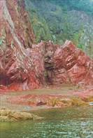Яшма на острове Феклистова