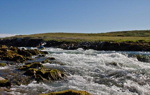 Порог после Беломраморного каньона, проходит Щука.