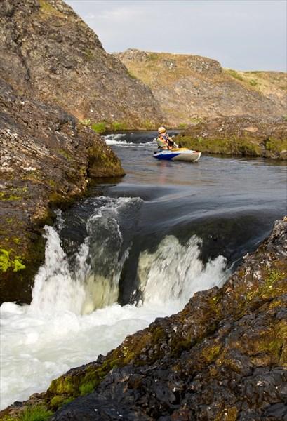 "на фото: ""Маринка"" и обе ступени водопада"