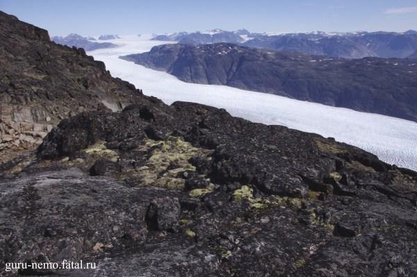 Ледник Kuussuup и Mellemlandet.