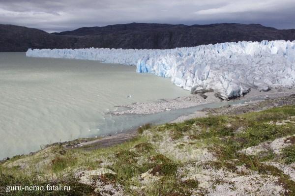 Озеро и ледник Nordbo.