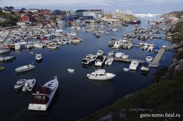 Гавань Ilulissat.