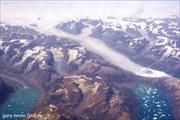 Пролетая над восточной Гренландией.