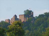 Старый замок в Баден-Бадене-город Баден-Баден