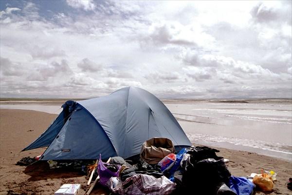Наш лагерь на берегу Янцзы