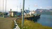 Паромщики на пристане Skarberget