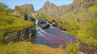 Водопад недалеко от нашего бивака