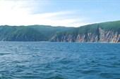 Остров Беличий-2. Видно бухточку, где мы спасались от непогоды