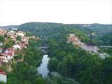 Велико-Тырново, вид на центр города и р. Янтра