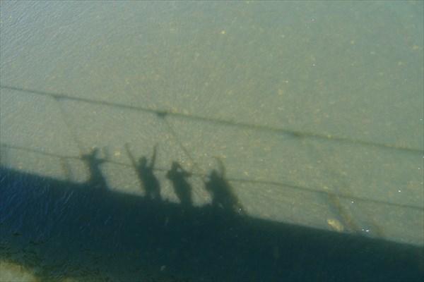 Путешественники на мосту - Андрей, Тёма, Аня и Наташа!