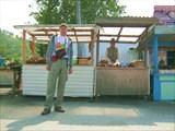 Село Култук -здесь стоянка автобуса и можно успеть купить омуля