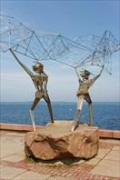 """Скульптурная группа """"Рыбаки"""""""