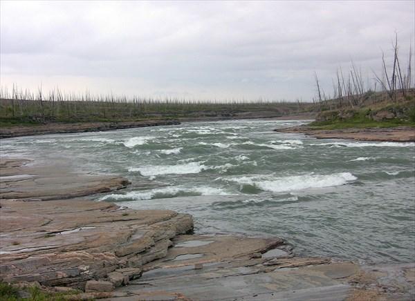 Порог Орон на реке Рыбной