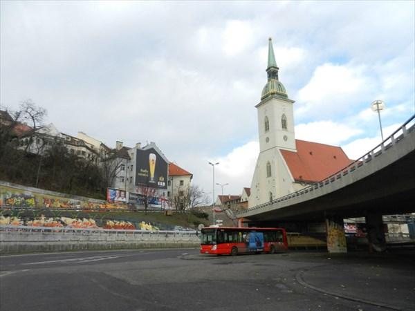 Вот, что мы увидели, когда приехали на автобусе в Братиславу
