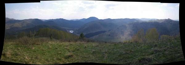 панорама с озером)