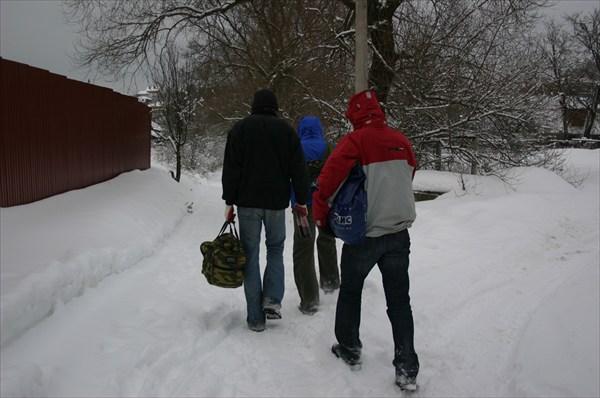 Шагаем к реке Рожайке
