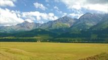 Долина Текеса с перевальчика. Фото И. Агашкиной