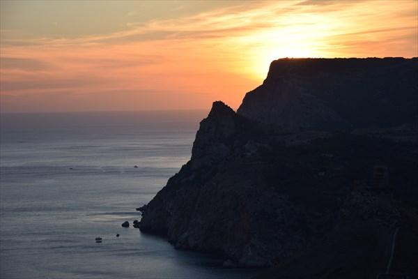 Закат над юго-западным побережьем