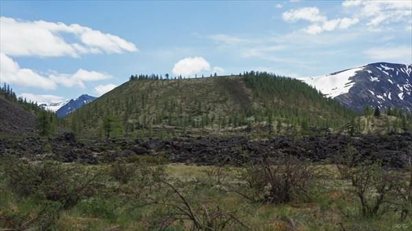 Вулкан Перетолчина с севера