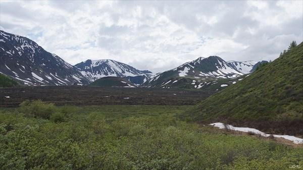 Верховья пади Хи-Гол от вулкана Перетолчина