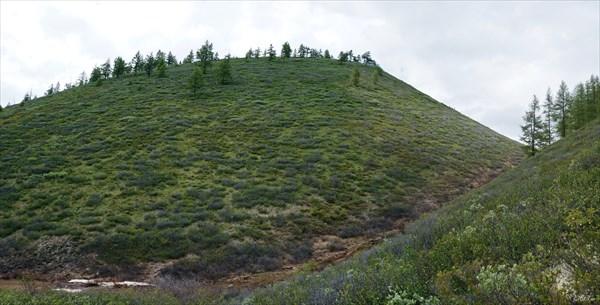 Вулкан Перетолчина от места бивака