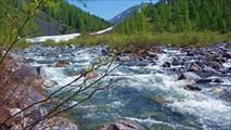 Река Хакта в верховьях. Здесь у нас была переправа