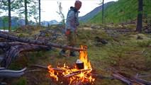 Бивак на краю поля лавы