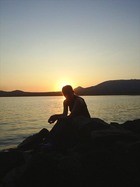 Закат на оз. Зюраткуль