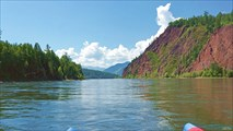 Река Бий-Хем перед пос. Сейба (Севи)