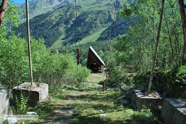 Нижняя станция бывшей канатки