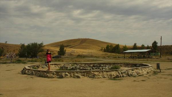 Вид на гору Шаманка с  центральной площадки