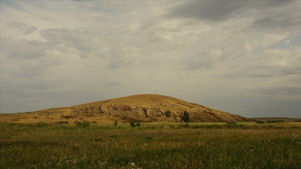 Гора Шаманка. Вид со стороны раскопа