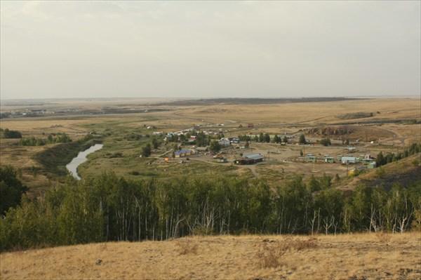 Вид на лагерь с горы Любви