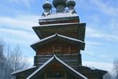 Церковь в музее Малые Корелы