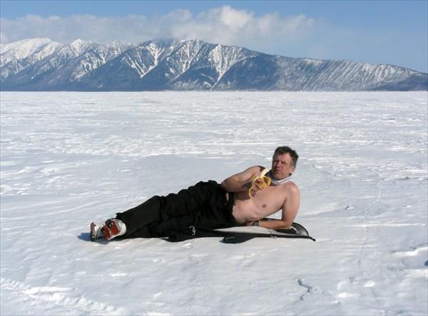 Апрельский загар на Байкале
