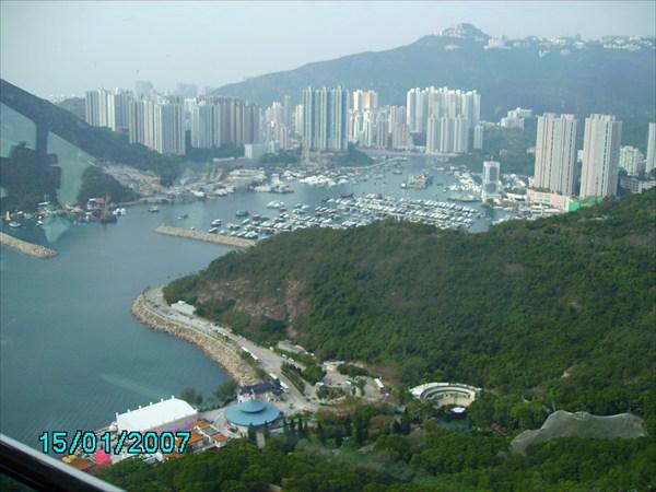 Побережье Гонконга. Вид сверху.