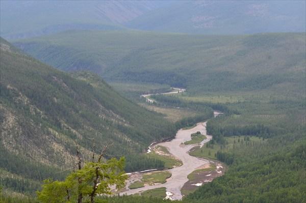 Долина р.Баргузин (вид с пер.Рухловский)