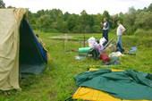 Наконец можно ставить палатки