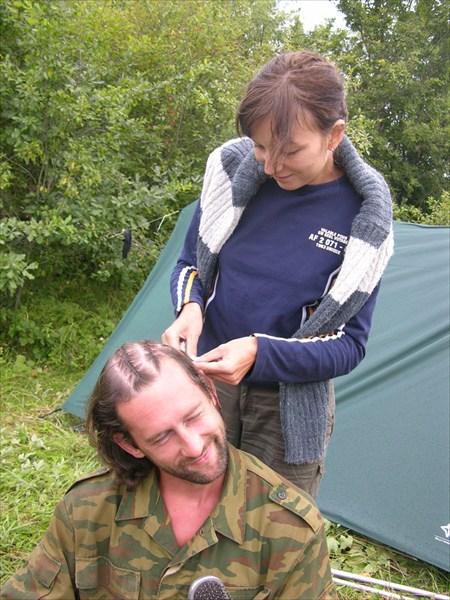 "Креативная причёска ""утро в лесу"""